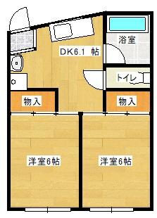 エルモア益田駅前 303号室の間取り図
