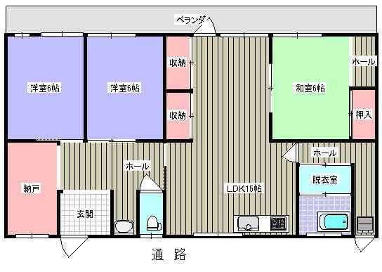高橋アパート 201号室の間取り図