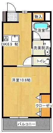 メゾン京町 204号室の間取り図