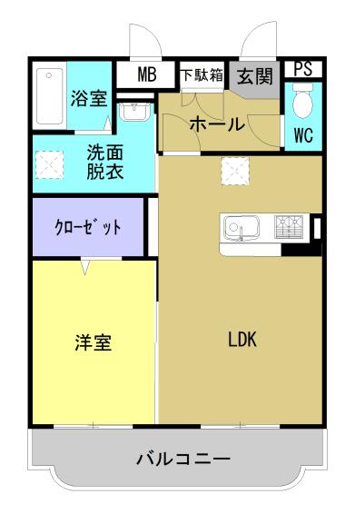 サワーオレンジIII 302号室の間取り図