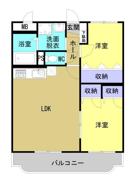 (仮称)ユーミーかもしま北 102号室の間取り図