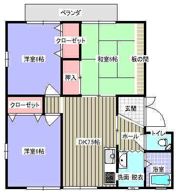 アネックス乙吉 1号室の間取り図
