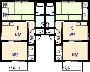 リーブ三宅2 201号の間取り図