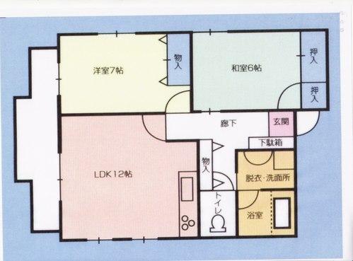 ファイン乙吉 401号室の間取り図