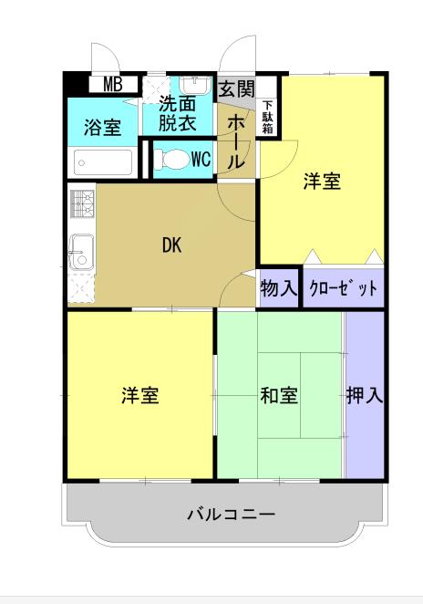 ユーミー高津 302号室の間取り図