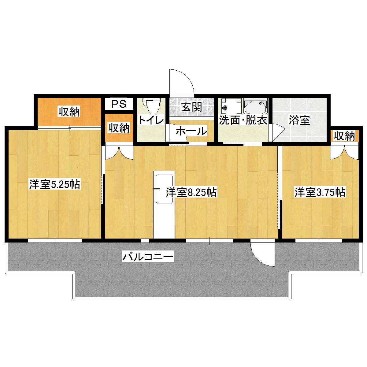 メゾン常盤 202号室の間取り図