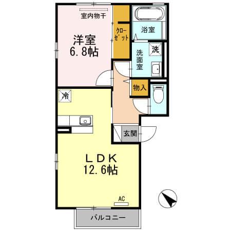 パルカディア乙吉 301号室の間取り図