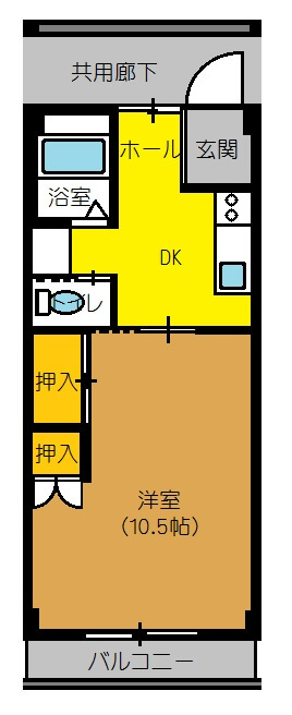 あけぼの荘 302号室の間取り図