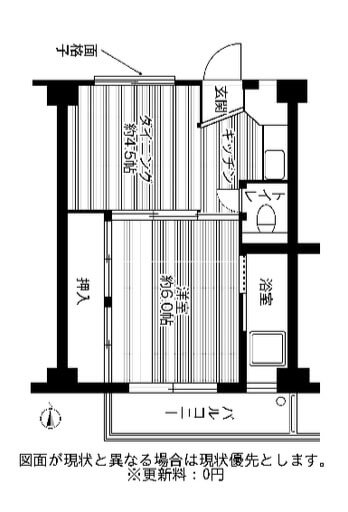 ビレッジハウス高津1号棟 106号室の間取り図