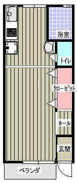 Ladies昭和 101号室の間取り図