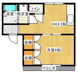 アーベイン 102号室の間取り図