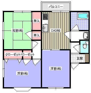 メゾネット須子 201号室の間取り図