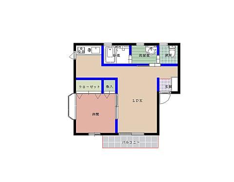 エルモア栄町 102号室の間取り図