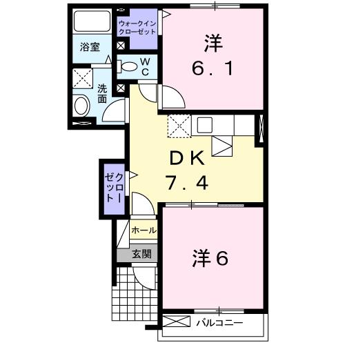 グランディールSI 103号室の間取り図