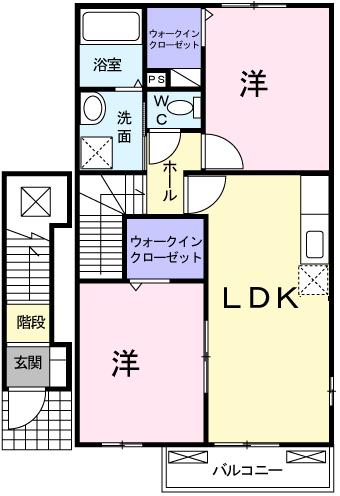デスパシオ 202号室の間取り図