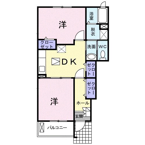 アバンツァート2番館 103号室の間取り図