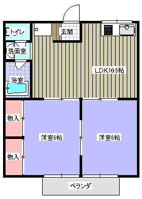 ハイツKT 201号室の間取り図