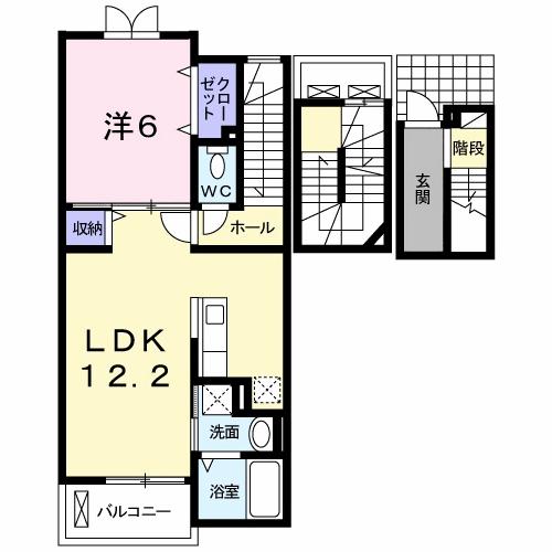 ブレッザ・ディ・マーレⅠ 302号室の間取り図
