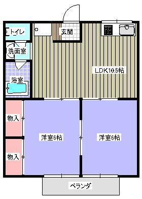 ハイツKT 203号室の間取り図