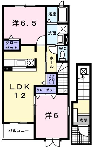 アバンツァート3番館 203号室の間取り図