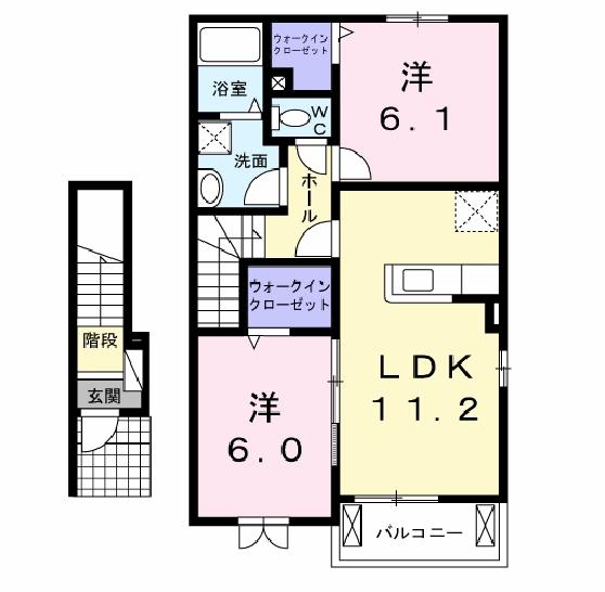 グリーンサイドⅠ 203号室の間取り図