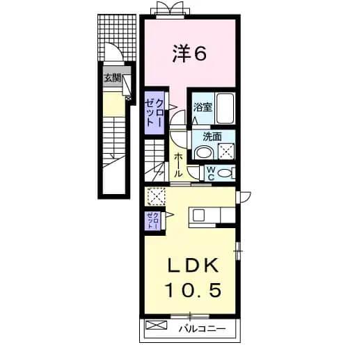 アビタシオン益田 201号室の間取り図