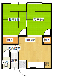 メゾン益田 3号室の間取り図