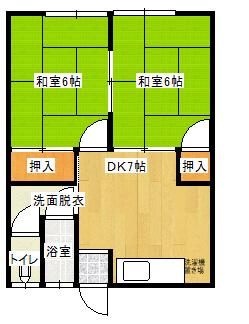 メゾン益田 7号室の間取り図
