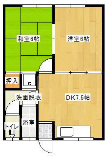 メゾン益田 8号室の間取り図