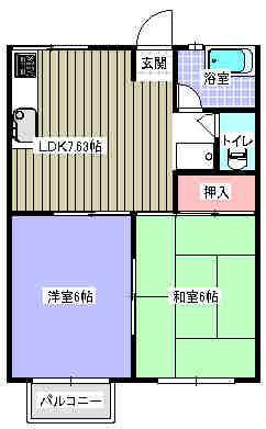 とまとハウス 202号室の間取り図