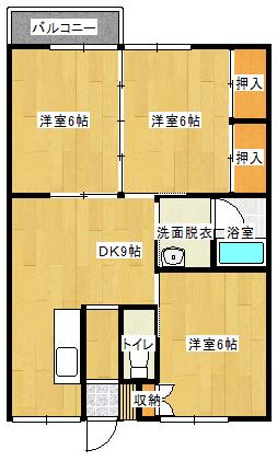 ハイツKT 101号室の間取り図