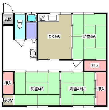 高橋アパート 202号室の間取り図