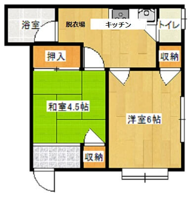 Apartment House「WOOD STOCK」 2号室の間取り図