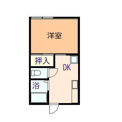 今津アパート 101号室の間取り図