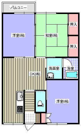 ハイツKT 103号室の間取り図