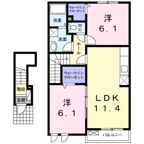 アイリー中須Ⅰ 202号室の間取り図
