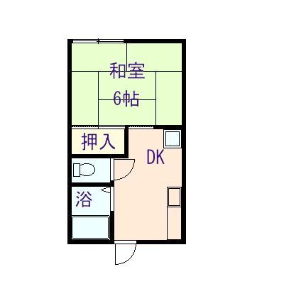 今津アパート 202号室の間取り図