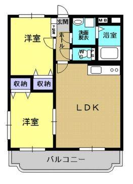 サワーオレンジII 201号室の間取り図