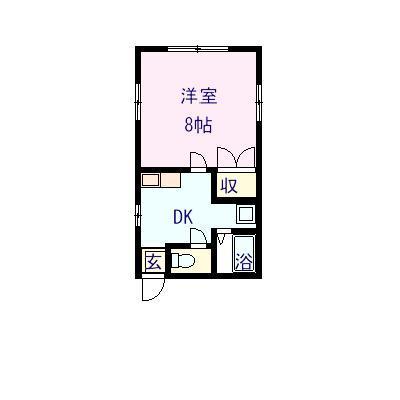 中須21 106号室の間取り図