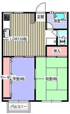 とまとハウス 102号室の間取り図