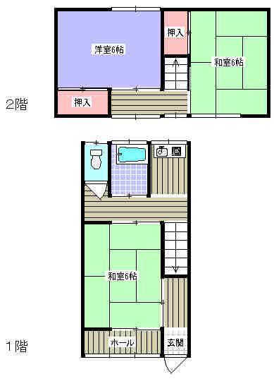 昭和アパート7 2号室の間取り図