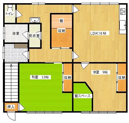 あけぼのアパート の間取り図