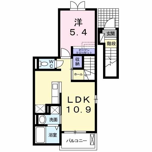ブレッザ・ディ・マーレⅠ 201号室の間取り図