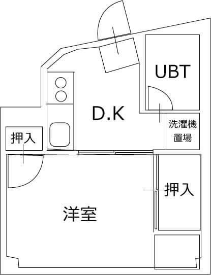 エルモア益田駅前 201号室の間取り図