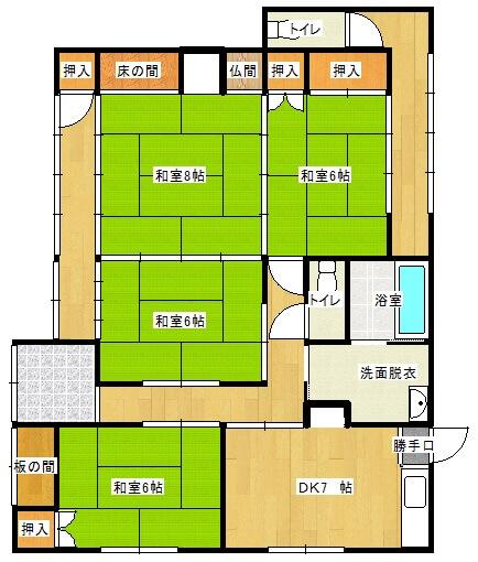 津和野町借家 の間取り図