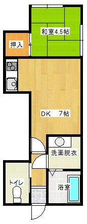 パレスフラワー湖月III 101号室の間取り図