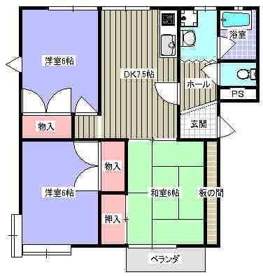 コスモスA 101号室の間取り図