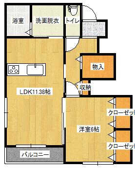 メゾン須子町 102号室の間取り図