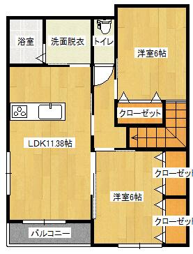メゾン須子町 202号室の間取り図