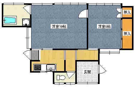 須子アパート 2号室の間取り図